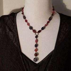 Jewelry - Vintage Glass Beaded Statement Necklace